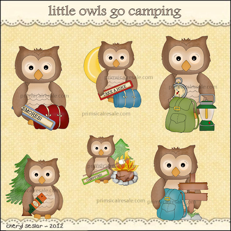 Camping clipart mountain hiking Primsical Resale Owls :