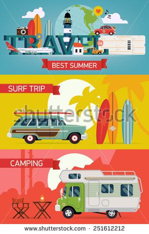 Camping clipart sightseeing Cool summer Vector vacation Adventure
