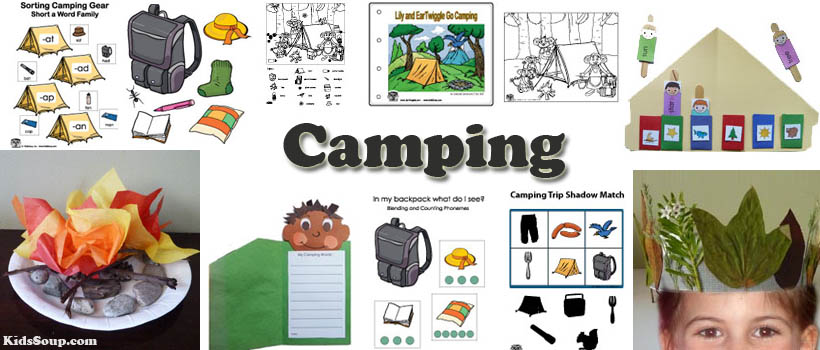 Camping clipart spring activity Preschool Activities and games Camping