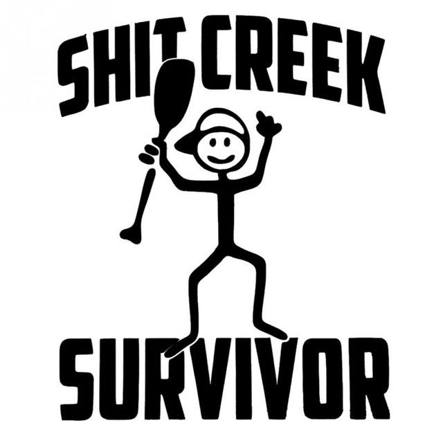 Camping clipart survivor Creative Styling Car Creek Sticker
