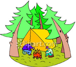 Camping clipart woods The Camping In Woods
