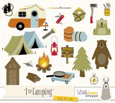 Camping clipart woods Clip / Bear  woods