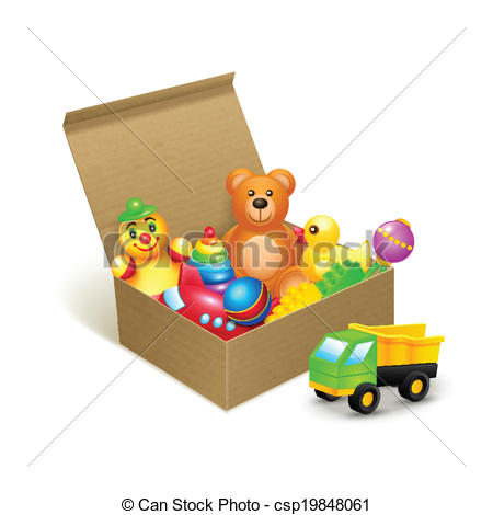 Toy clipart toy box #1