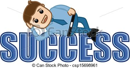 Life clipart happy Success Lying of Vector Lying