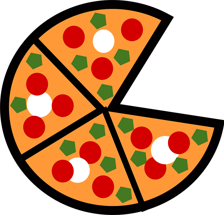 Pizza clipart fast food Graphic: collection vector Pizza lunch