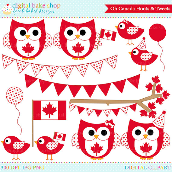 Canada clipart canada day Clip owls Digital Oh canadian