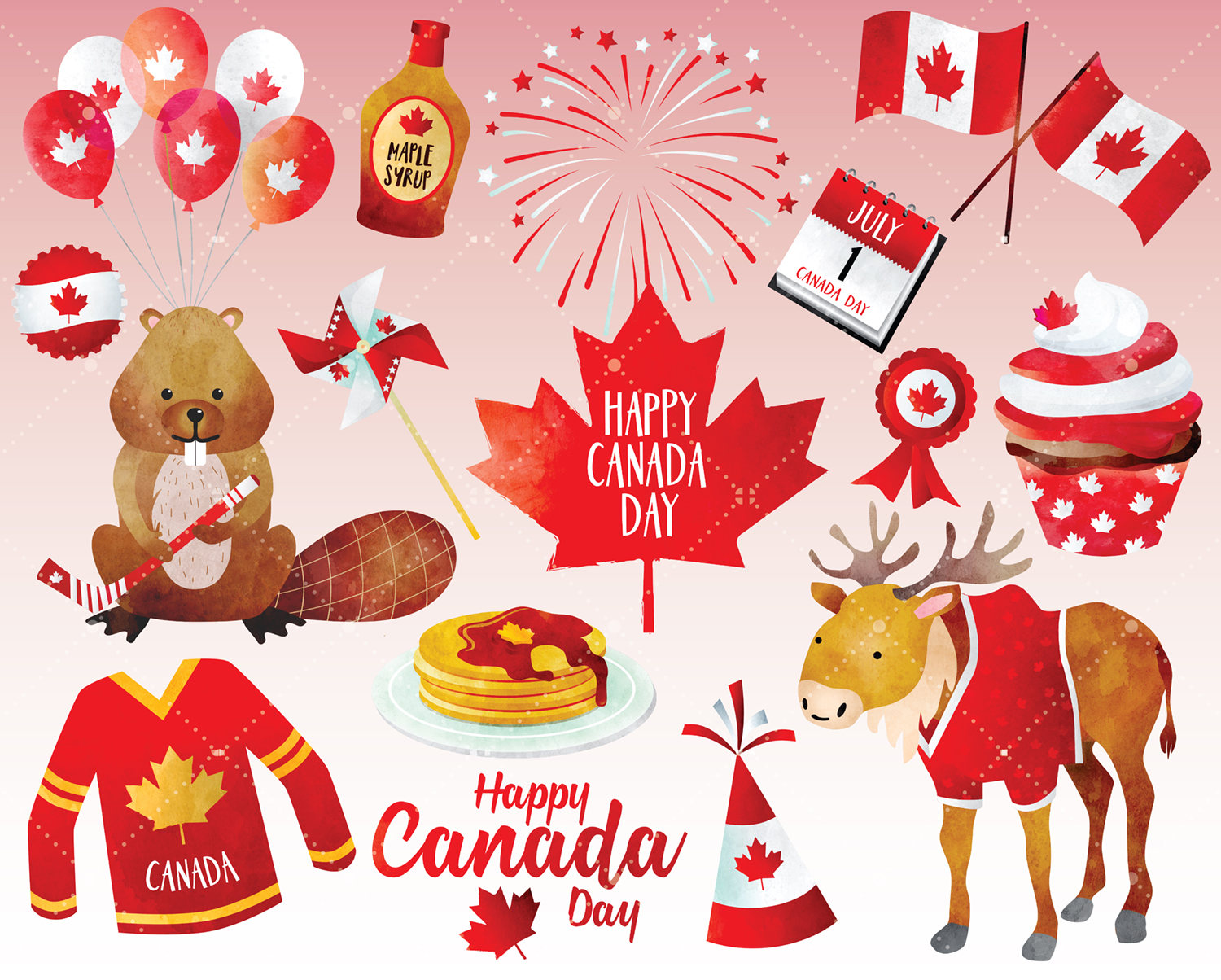 Canada clipart canada day Digital  Day Canadian This
