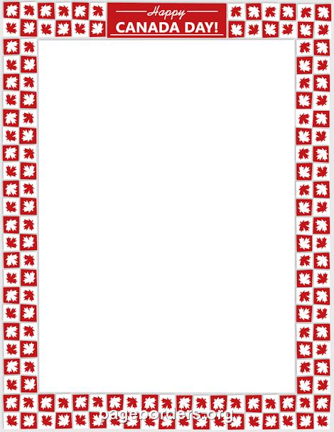 Canada clipart canada day Printable border creating or border