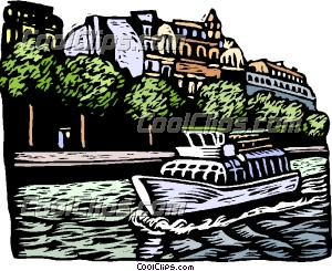 Canal clipart European Art Clip on boat