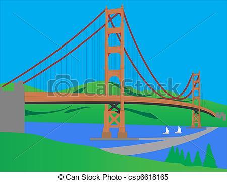 Bridge clipart river Vector csp6618165 over big of