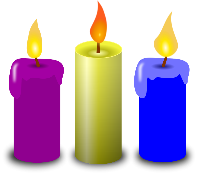 Candle clipart #8