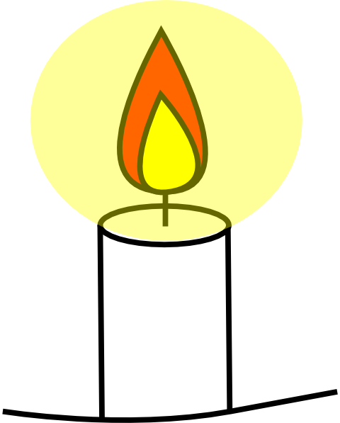 Candle clipart #7