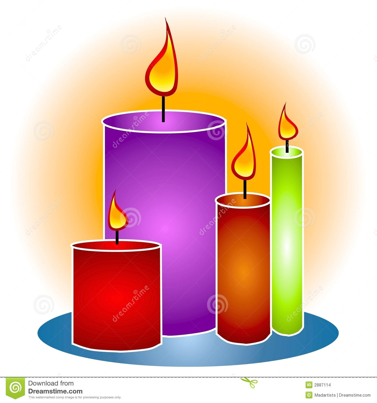 Melting Candle clipart lighted Clipart Image Candle Panda Free