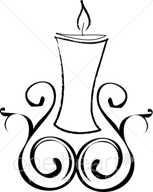 Candle clipart carol by candlelight Clipart Christmas Candle Wedding Clipart