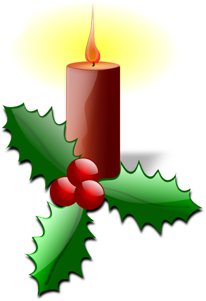 Candle clipart cartoon At as: vector art Christmas