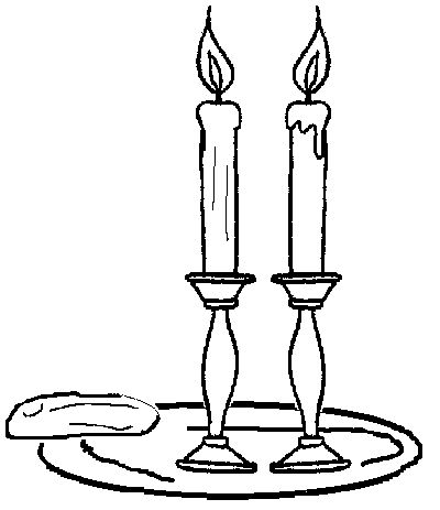 Candle clipart coloring page Coloring on for images result