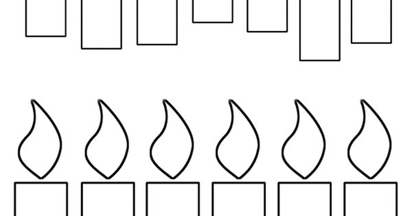 Candle clipart coloring page Birthday images 105 on