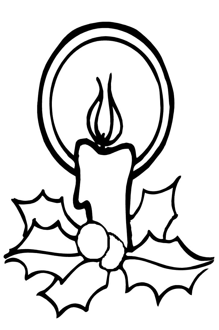 Candle clipart coloring page More Pinterest images Pin Pages