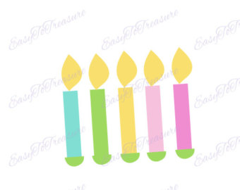 Candle clipart pastel color Etsy Digital clipart Birthday Party