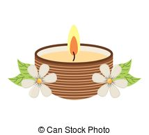 Candle clipart spa Flame Illustrations design flame candle