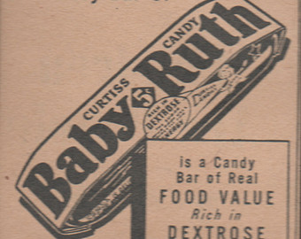 Candy Bar clipart baby ruth Ruth Baby Ad Candy Bars