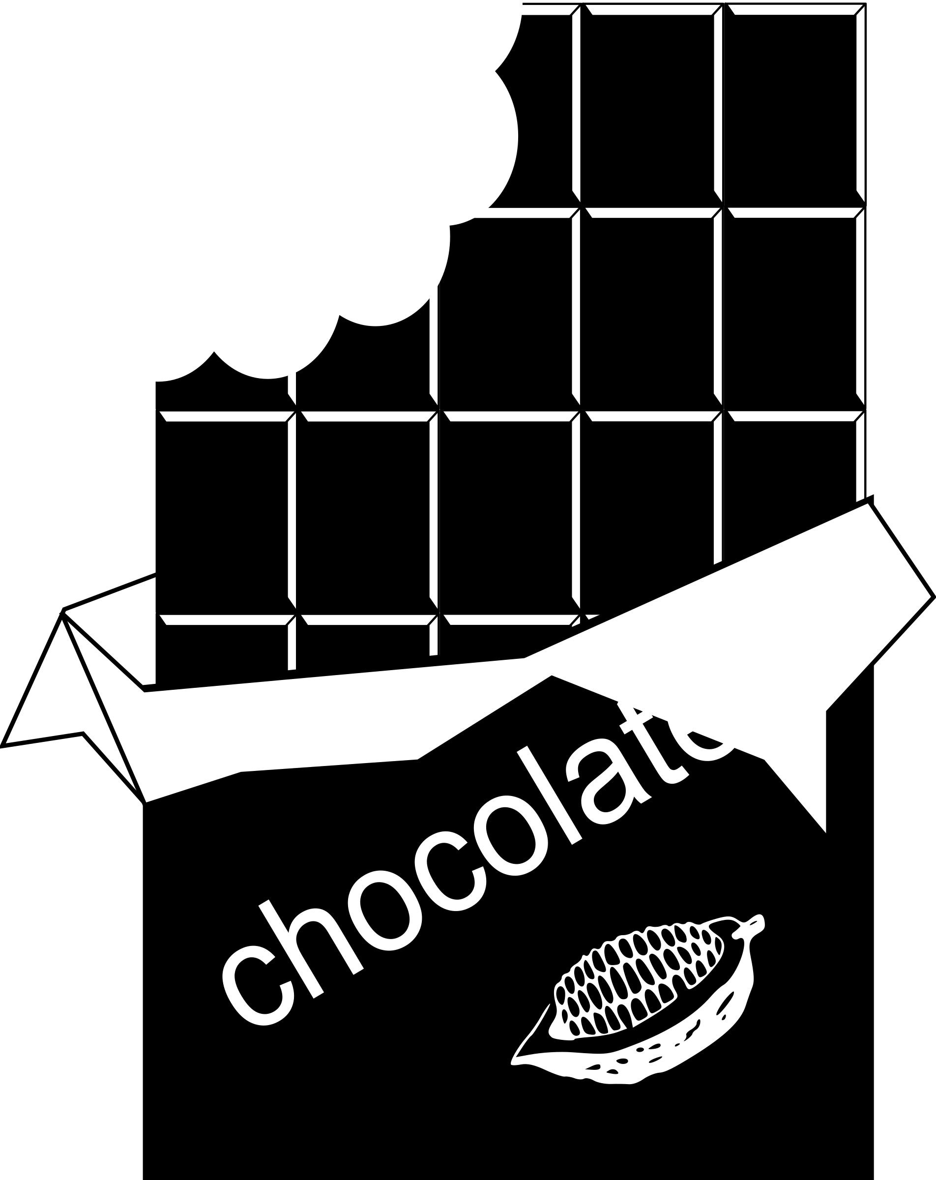 Chocolate clipart black and white Clipart Clipart Free Chocolate Chocolate