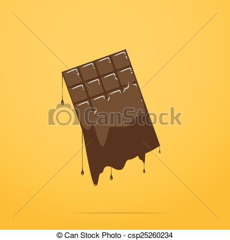 Candy Bar clipart drawing  Vector chocolate melted melted