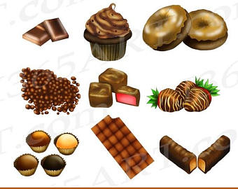 Candy Bar clipart food item Set Chocolate Chocolate Clipart sweets