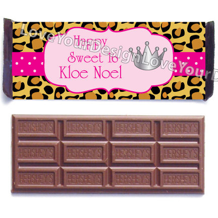 Candy Bar clipart hershey's Cheetah printing Bar Party Labels