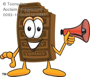 Candy Bar clipart junk food Megaphone a With a With