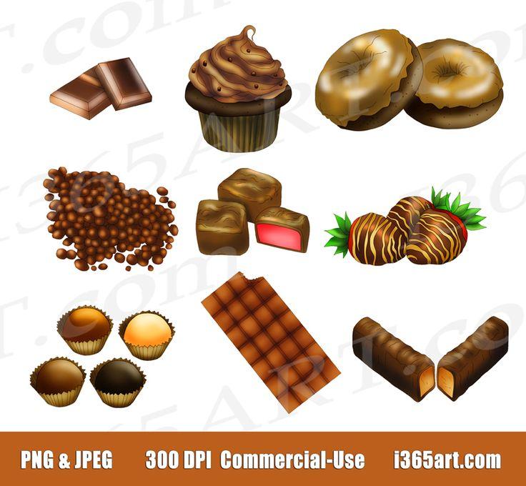 Candy Bar clipart nut On Chocolate Chocolate Digital 634
