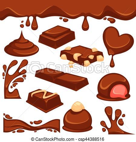 Candy Bar clipart nut Csp44388516 Chocolate candy vector dessert