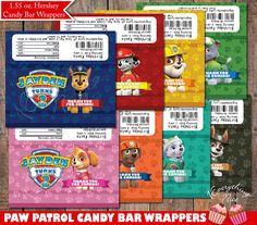 Candy Bar clipart treat Chocolate 6 Birthday 1 Paw
