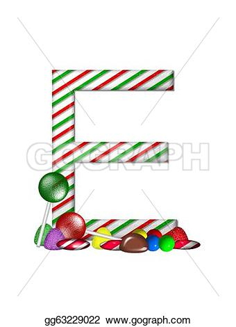 Candy Cane clipart alphabet And and in striped e