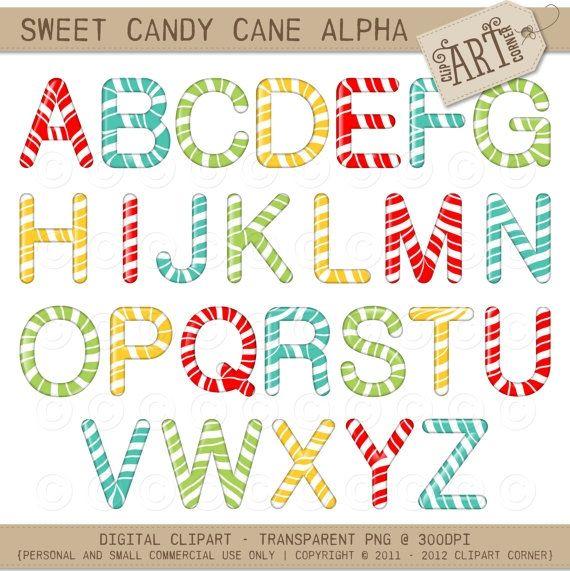 Candy Cane clipart alphabet Images Clip best Luvly Cane
