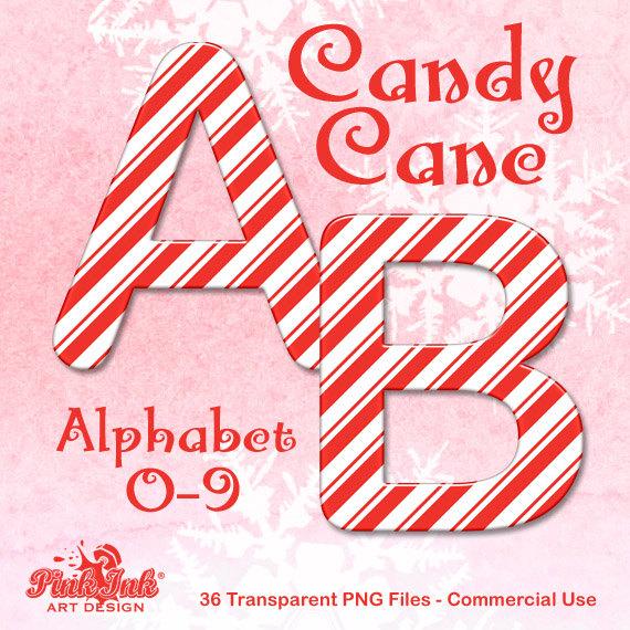 Candy Cane clipart alphabet Letters alphabet Art art cane