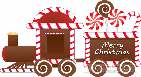Merry Christmas clipart candy cane Candy 156 Size: train clipart