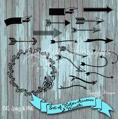 Candy Cane clipart arrow #ValentineSVGFiles Clip Rustic Arrow Rustic