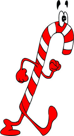 Candy Cane clipart banner Ribbon Ribbon and CANE Golden