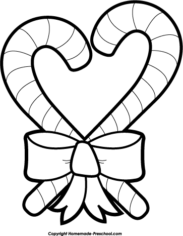 Candy Cane clipart black and white White candy black white candy