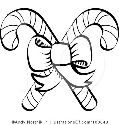 Candy Cane clipart black and white Are Candy Clipart White Black