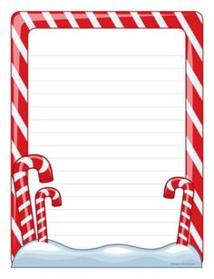 Candy Cane clipart blank Student Borders  writing Page