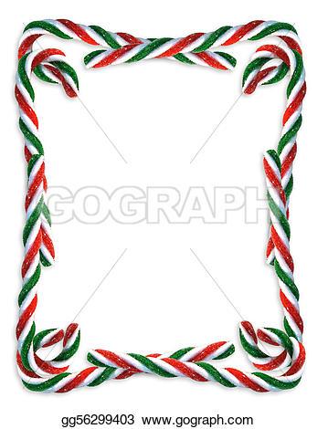 Candy Cane clipart border Christmas border Illustration Clip border