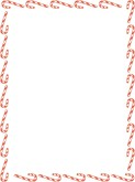 Candy Cane clipart border Candy Cane Templates found 16