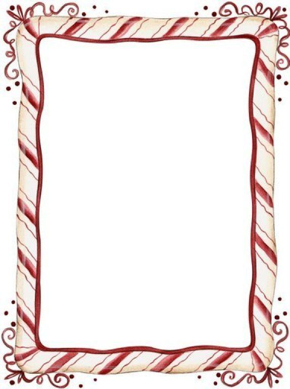 Candy Cane clipart border Frame on best Pinterest Clipart