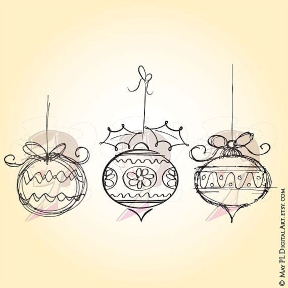 Drawn ornamental xmas #3