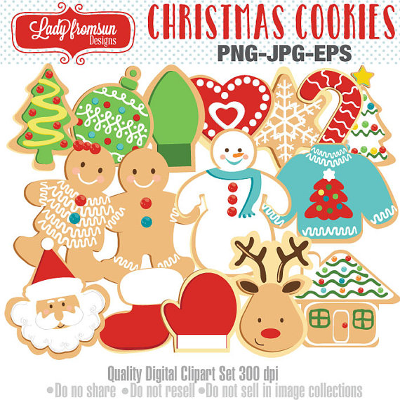 Candy Cane clipart christmas cookie Il_570xn Set Cookies Candy Clip