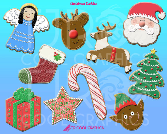 Candy Cane clipart christmas cookie  Art Cookie Christmas Christmas