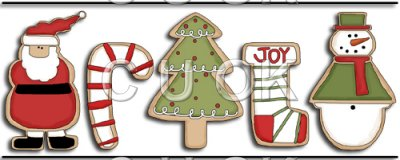 Candy Cane clipart christmas cookie Cookie REF663 Snowman  Tree