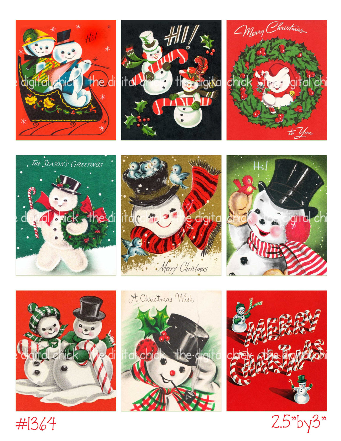 Candy Cane clipart christmas couple Clipart file Vintage Digital download